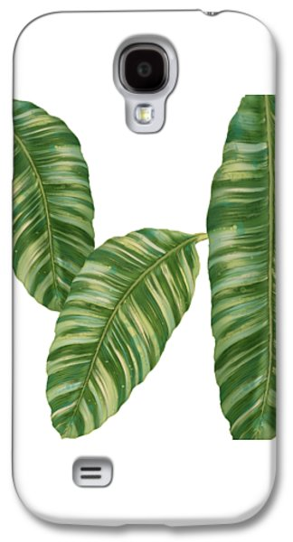 Rainforest Resort - Tropical Banana Leaf  Galaxy S4 Case by Audrey Jeanne Roberts