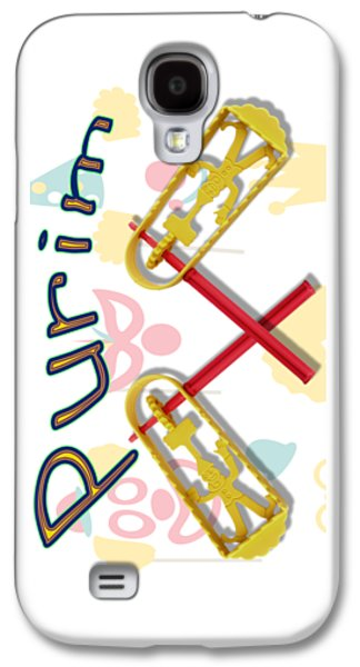 Happy Joyous Purim  Galaxy S4 Case by Humorous Quotes