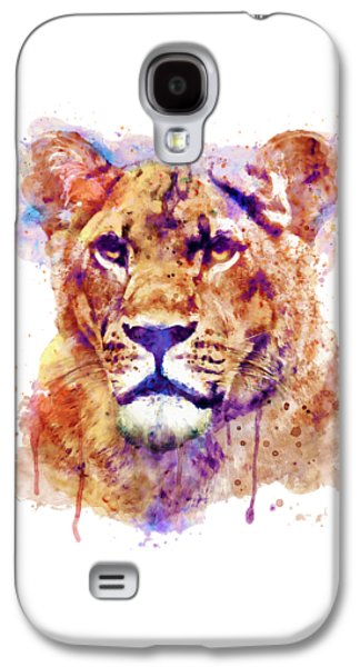 Lioness Head Galaxy S4 Case by Marian Voicu