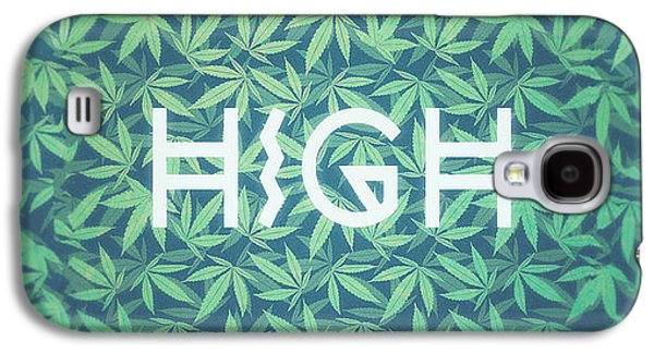High Typo  Cannabis   Hemp  420  Marijuana   Pattern Galaxy S4 Case