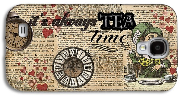 It's Always Tea Time Mad Hatter Dictionary Art Galaxy S4 Case