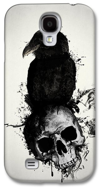Raven And Skull Galaxy S4 Case by Nicklas Gustafsson