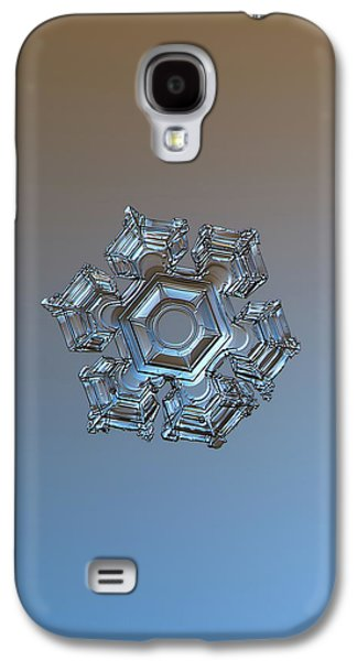 Snowflake Photo - Cold Metal Galaxy S4 Case