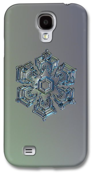 Snowflake Photo - Silver Foil Galaxy S4 Case