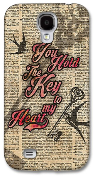Key To My Heart Dictionary Art Galaxy S4 Case