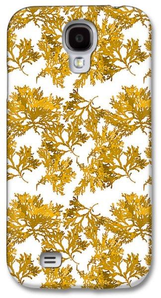 Yellow Gold Seaweed Art Delesseria Alata Galaxy S4 Case by Christina Rollo