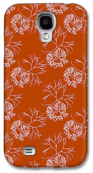 Orange Seaweed Marine Art Furcellaria Fastigiata Galaxy S4 Case by Christina Rollo