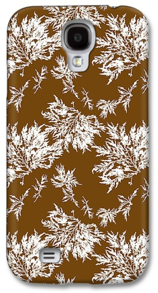 Brown Seaweed Marine Art Chylocladia Clavellosa Galaxy S4 Case by Christina Rollo
