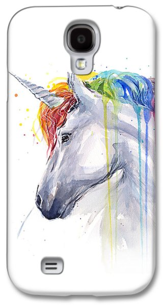 Magician Galaxy S4 Case - Unicorn Rainbow Watercolor by Olga Shvartsur