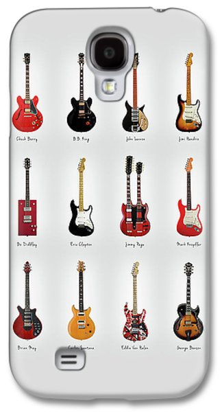 Rock And Roll Galaxy S4 Case - Guitar Icons No1 by Mark Rogan