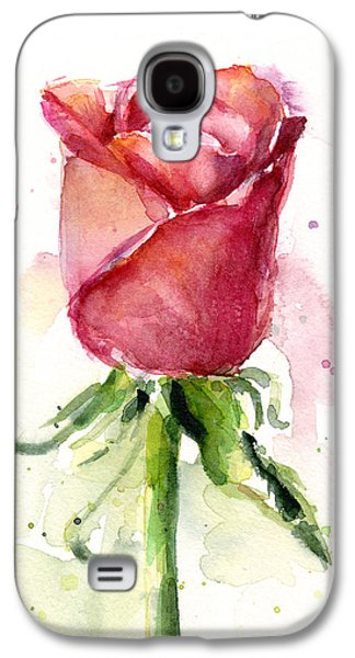 Rose Galaxy S4 Case - Rose Watercolor by Olga Shvartsur