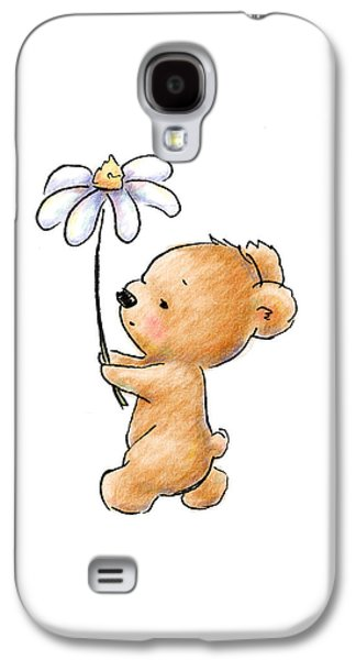 Baby Bear With Flower Galaxy S4 Case