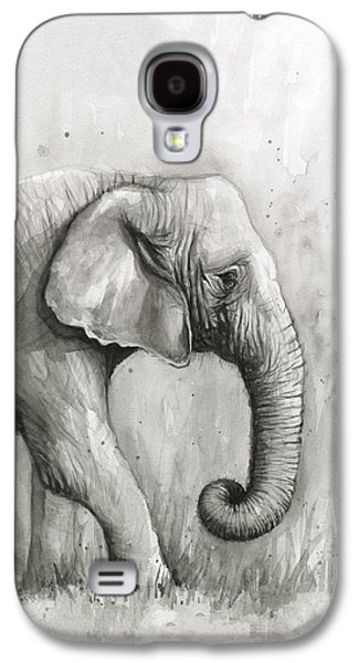 Elephant Watercolor Galaxy S4 Case