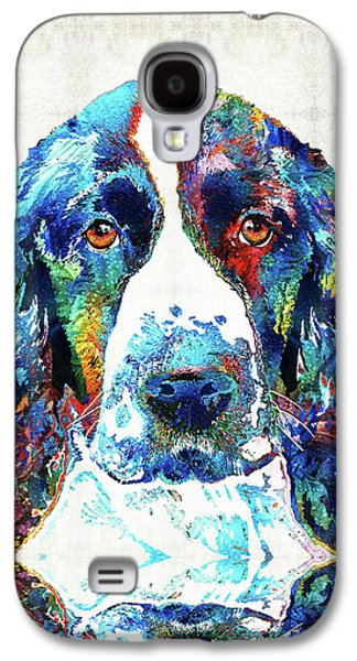Colorful English Springer Spaniel Dog By Sharon Cummings Galaxy S4 Case by Sharon Cummings