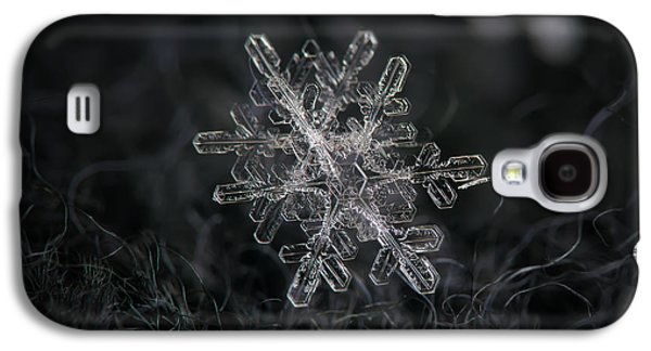 Snowflake Photo - January 18 2013 Grey Colors Galaxy S4 Case