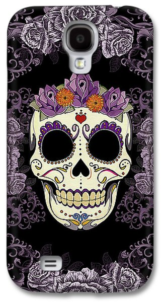 Vintage Sugar Skull And Roses Galaxy S4 Case