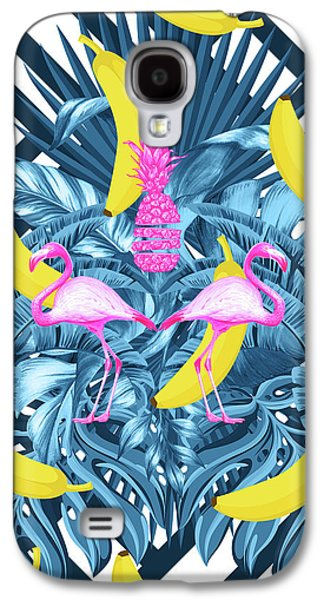 Tropical Banana Pink   Galaxy S4 Case