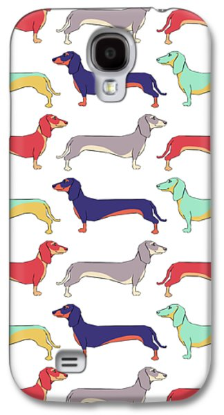 Dachshunds Galaxy S4 Case by Kelly Jade King
