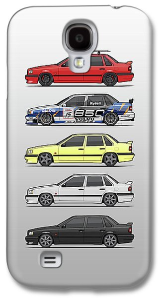 Stack Of Volvo 850r 854r T5 Turbo Saloon Sedans Galaxy S4 Case by Monkey Crisis On Mars