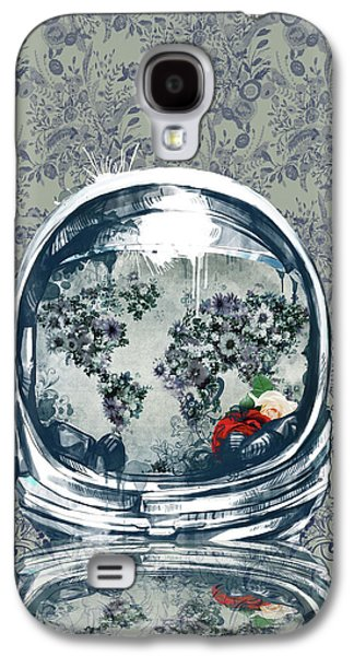 Astronaut World Map 5 Galaxy S4 Case