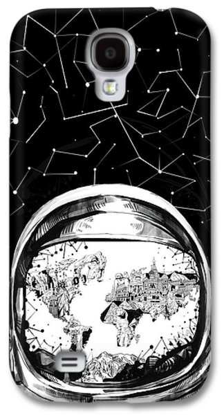 Astronaut World Map 8 Galaxy S4 Case