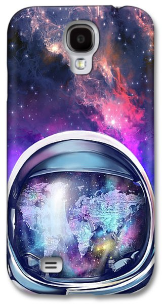 Astronaut World Map 9 Galaxy S4 Case