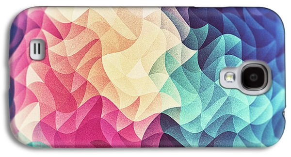 Geometry Triangle Wave Multicolor Mosaic Pattern Hdr   Low Poly Art  Galaxy S4 Case by Philipp Rietz