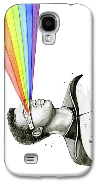 Geordi Sees The Rainbow Galaxy S4 Case by Olga Shvartsur