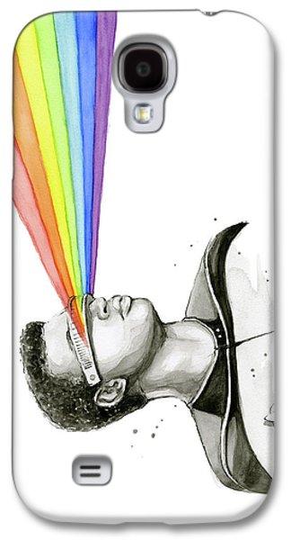 Science Fiction Galaxy S4 Case - Geordi Sees The Rainbow by Olga Shvartsur