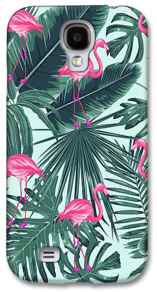 Tropical Pink Flamingo Galaxy S4 Case by Mark Ashkenazi
