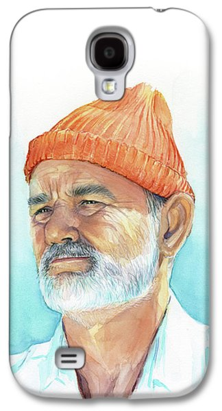 Bill Murray As Steve Zissou Of Life Aquatic Galaxy S4 Case by Olga Shvartsur