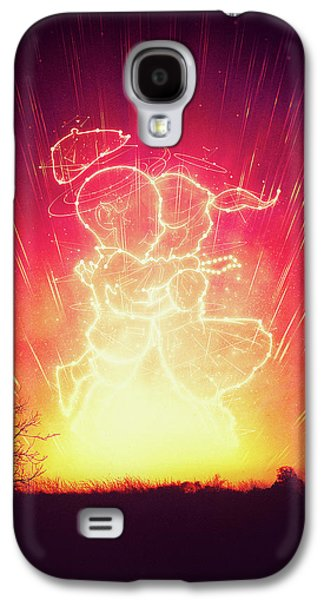 Cosmo And Celeste Colorful Cosmological Night Sky Couple In Love  Galaxy S4 Case by Philipp Rietz