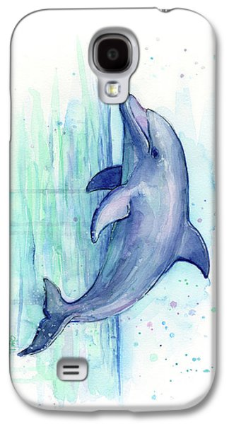 Dolphin Watercolor Galaxy S4 Case by Olga Shvartsur