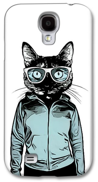 Cool Cat Galaxy S4 Case by Nicklas Gustafsson