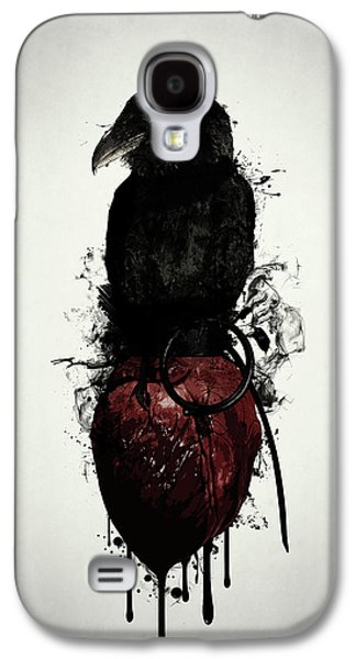 Raven And Heart Grenade Galaxy S4 Case by Nicklas Gustafsson