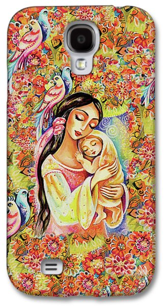 Galaxy S4 Case featuring the painting Little Angel Dreaming by Eva Campbell