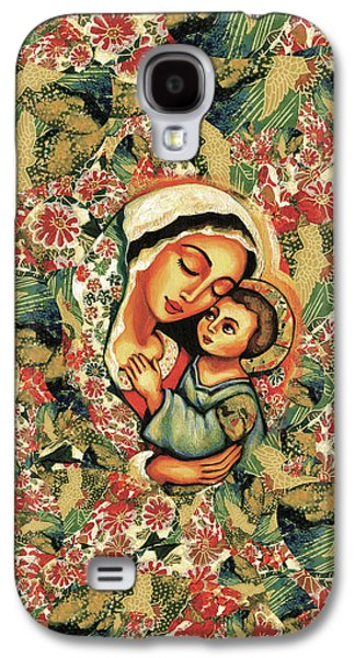 Galaxy S4 Case featuring the painting The Blessed Mother by Eva Campbell