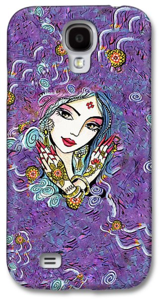 Galaxy S4 Case featuring the painting Hands Of India by Eva Campbell