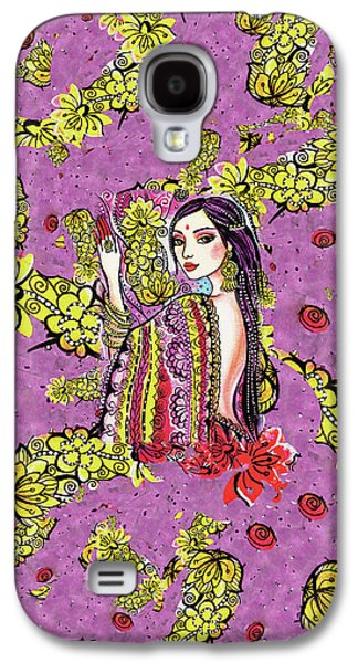 Galaxy S4 Case featuring the painting Soul Of India by Eva Campbell