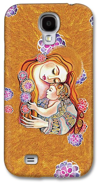 Galaxy S4 Case featuring the painting Little Angel Sleeping by Eva Campbell