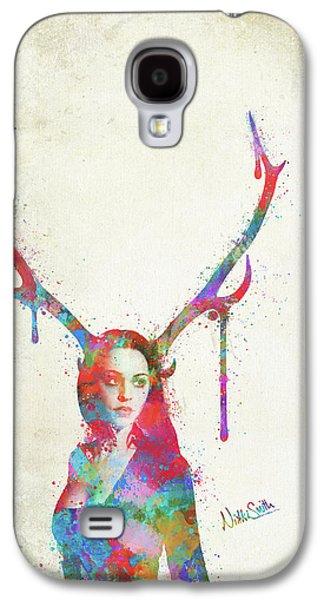 Song Of Elen Of The Ways Antlered Goddess Galaxy S4 Case by Nikki Marie Smith