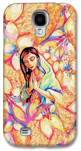 Galaxy S4 Case featuring the painting Little Himalayan Pray by Eva Campbell