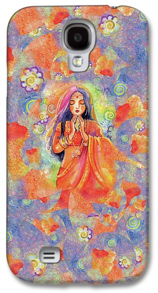 Galaxy S4 Case featuring the painting Seashell Wish by Eva Campbell