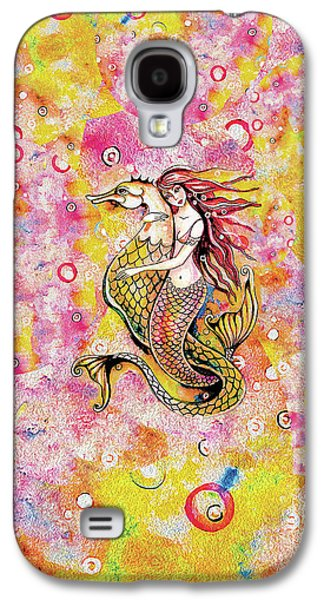 Galaxy S4 Case featuring the painting Black Sea Mermaid by Eva Campbell