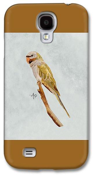 Derbyan Parakeet Galaxy S4 Case by Angeles M Pomata