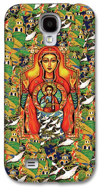 Galaxy S4 Case featuring the painting Our Lady Of The Sign by Eva Campbell