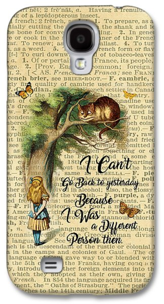 Alice In Wonderland Quote,cheshire Cat,vintage Dictionary Art Galaxy S4 Case