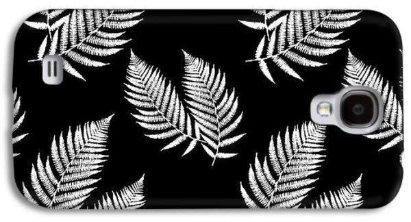 Fern Pattern Black And White Galaxy S4 Case