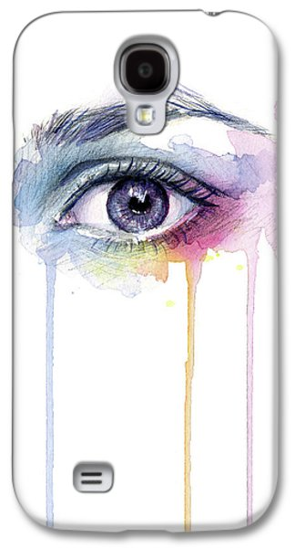 Colorful Dripping Eye Galaxy S4 Case