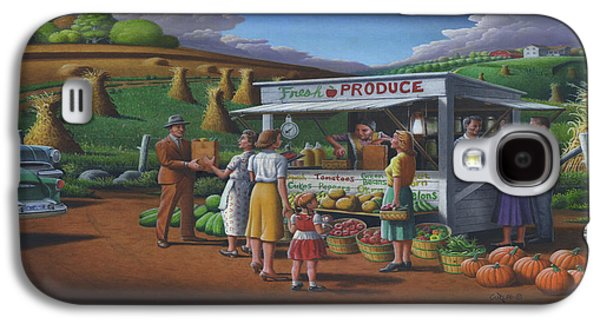 Roadside Produce Stand - Fresh Produce - Vegetables - Appalachian Vegetable Stand - Square Format Galaxy S4 Case by Walt Curlee